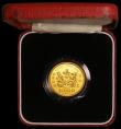London Coins : A168 : Lot 684 : Hong Kong $1000 1986 Royal Visit KM#57 Gold Proof FDC in the red case of issue with certificate