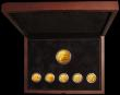 London Coins : A168 : Lot 692 : Jersey, The William Shakespeare 450th Birthday Gold Coin Collection 6 coin set in gold with Five Pou...
