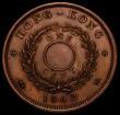 London Coins : A168 : Lot 796 : Hong Kong One Cent 1862 Copper Pattern, Type C,  KM#Pn25, Pridmore 280. Obverse : Small Gothic head ...