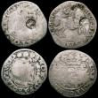 London Coins : A168 : Lot 824 : Netherlands  Kingdom - Countermarked issues, countermarked coinage of 1693 (4) 6 Stuivers KM#2.1 bun...