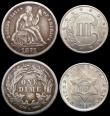 London Coins : A168 : Lot 869 : USA (3) Five Cents 1913D Buffalo, Breen 2588 GF/NVF, USA Three Cents 1851 Heavy Date Breen 2900 UNC ...