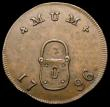 London Coins : A168 : Lot 900 : Farthing 18th Century Middlesex 1796 Spence's - Obverse: Padlock/Reverse: Evenfellows Plain edg...
