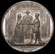 London Coins : A168 : Lot 953 : Marriage of Queen Victoria to Prince Albert 1840 54mm diameter in white metal by Davis, Birmingham. ...