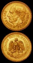 London Coins : A169 : Lot 1017 : Mexico Gold (2) 2 1/2 Pesos 1945 KM#463 (2) EF and A/UNC