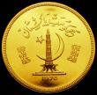 London Coins : A169 : Lot 1033 : Pakistan 3000 Rupees Gold 1976 Conservation Series - Astor Markhor KM#44 UNC with practically full l...