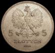 London Coins : A169 : Lot 1062 : Poland 5 Zlotych 1928 Y#18 GEF/AU, rare and considerably under-rated by Krause, we note at the time ...