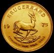 London Coins : A169 : Lot 1083 : South Africa Krugerrand 1975 KM#73 UNC and lustrous with minor contact marks