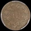 London Coins : A169 : Lot 1101 : Switzerland 10 Rappen 1875B KM#6 in a PCGS holder and graded MS62, Extremely Rare and one of the key...