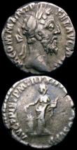 London Coins : A169 : Lot 1154 : Roman Denarius (3) Commodus 186-187AD Rev. Pietas standing left RIC 146 Good Fine/Fine, Geta 200-202...