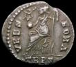 London Coins : A169 : Lot 1163 : Roman Siliqua Gratian (367-383AD) Obverse: Diademed and draped bust right, D N GRATIANVS P F AVG Rev...