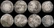 London Coins : A169 : Lot 1209 : Hammered a small group (8) Shillings (3) Edward VI Fine Silver Issue, (1551-1553) Mintmark Tun. Jame...