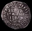 London Coins : A169 : Lot 1261 : Threepence Charles I Oxford Mint 1644 S.2994, North 2470 mintmark Lis, overall Good Fine with weakne...