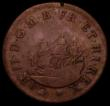 London Coins : A169 : Lot 1263 : Touch Piece Charles II undated in copper Peck *496 Obverse a three-masted ship in sail to left, Reve...