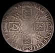 London Coins : A169 : Lot 1285 : Crown 1692 2 over inverted 2 QVINTO edge, stop after GRATIA  ESC 85, Bull 824 VG, the reverse with s...
