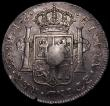 London Coins : A169 : Lot 1339 : Dollar George III Oval Countermark on 1793 Peru 8 Reales LIMA ESC 133 countermark VF host coin NVF w...