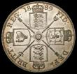 London Coins : A169 : Lot 1348 : Double Florin 1889 Second I in VICTORIA an inverted 1 ESC 398A, Bull 2702 Lustrous EF the obverse to...