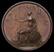 London Coins : A169 : Lot 1363 : Farthing 1806 Copper Proof Peck 1389 KF17, Obverse with Portrait 1 with incuse side whiskers, Revers...