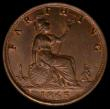 London Coins : A169 : Lot 1400 : Farthing 1863 Freeman 509 dies 3+B in an LCGS holder and graded LCGS 78. The lightest of cabinet fri...