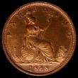 London Coins : A169 : Lot 1403 : Farthing 1868 Bronze Proof Freeman 520 dies 3+B, UNC with some lustre, in an LCGS holder and graded ...