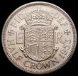 London Coins : A169 : Lot 1603 : Halfcrown 1953 Proof. Obverse 1 Reverse A. Obverse 1:- I of DEI points to a space, weakly struck por...