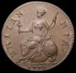 London Coins : A169 : Lot 1609 : Halfpenny 1770 Peck 893 EF and sharply struck