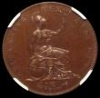 London Coins : A169 : Lot 1612 : Halfpenny 1826 Bronzed Proof Peck 1434 NGC PF66 BN