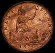 London Coins : A169 : Lot 1625 : Halfpenny 1875 Freeman 321 dies 11+J Lustrous UNC with a very small spot on the bust
