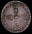 London Coins : A169 : Lot 1785 : Sixpence 1696 First Bust, Early Harp, Scottish Arms at date, with the central Lion of Nassau rotated...