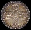 London Coins : A169 : Lot 1793 : Sixpence 1758 ESC 1623, Bull 1763 a pleasing piece, with deep tone over some original lustre, in an ...
