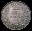 London Coins : A169 : Lot 1815 : Sixpence 1873 ESC 1727, Bull 3228, Davies 1079 dies 3A, Die Number 43 choice and with a light subtle...