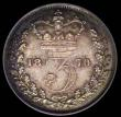 London Coins : A169 : Lot 1978 : Threepence 1870 Standard type ESC 2076 LCGS UNC 82