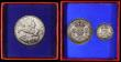London Coins : A169 : Lot 2016 : Crown 1935 Specimen ESC 376, Bull 3652 UNC in the red box of issue, Halfcrowns 1935 (2) ESC 784, Bul...