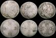 London Coins : A169 : Lot 2029 : Crowns to Sixpences a small group (7) Crowns (2) 1821 SECUNDO, 1822 TERTIO Halfcrowns (2) 1696y Larg...