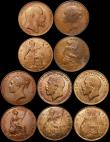 London Coins : A169 : Lot 2084 : Pennies and Halfpennies in LCGS holders (12) Pennies (5) 1853 Ornamental Trident Peck 1500 EF and gr...