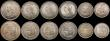 London Coins : A169 : Lot 2119 : Victoria 1887 Jubilee Head coinage (11) Halfcrowns 1887 EF (3), Shillings 1887 (3) GVF (2) and NEF, ...