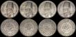 London Coins : A169 : Lot 2158 : Egypt 20 Piastres King Farouk issues (8) 1937 (AH1356) KM#368 (2), 1939 (AH1358) KM#368 (6) EF to UN...