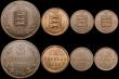 London Coins : A169 : Lot 2199 : Guernsey (8) Eight Doubles (5) 1885H VF, 1889H NEF/GVF, 1902H GVF, 1903H NVF, 1920H NVF, Two Doubles...