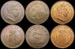 London Coins : A169 : Lot 2250 : Spain (5) 2 Centimos 1870 OM KM#661 (2), 1 Centimo (3) 1870OM KM#660, 1906 SL V KM#(2) GEF to UNC