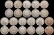 London Coins : A169 : Lot 2262 : Switzerland a high grade group (21) 2 Francs 1944 Lustrous A/UNC, 1 Franc (9) 1911B GEF, 1913B EF, 1...