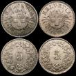 London Coins : A169 : Lot 2266 : Switzerland a small group (4) 10 Rappen 1873B KM#6 Good Fine, 5 Rappen (3) 1873B KM#5 UNC and lustro...