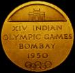 London Coins : A169 : Lot 330 : 14th Indian Olympic Games Bombay 1950 52mm diameter in gilt bronze Obverse: The Gateway of India, XI...