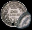 London Coins : A169 : Lot 378 : Mint Error - Mis-Strike Shilling 1839 No WW a double striking with part of another similar coin with...