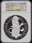 London Coins : A169 : Lot 472 : Five Hundred Pounds 2020 Queen's Beasts - The White Lion of Mortimer One Kilo of .999 Silver Pr...
