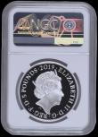 London Coins : A169 : Lot 495 : Five Pound Crown 2019 The Tower of London - The Yeoman Warders Silver Proof S.L75 FDC in an NGC hold...