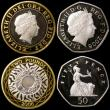 London Coins : A169 : Lot 497 : Five Pound Crowns (2) 1990 Queen Mother 90th Birthday Silver Proof, 2006 Queen Elizabeth II 80th Bir...