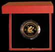 London Coins : A169 : Lot 760 : Hong Kong $1000 1980 Year of the Monkey KM#47 Gold Proof FDC in the red case of issue with certifica...