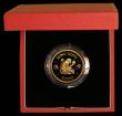 London Coins : A169 : Lot 762 : Hong Kong $1000 1980 Year of the Monkey KM#47 Gold Proof FDC in the red case of issue with certifica...