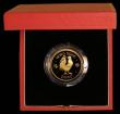 London Coins : A169 : Lot 771 : Hong Kong $1000 1981 Year of the Cockerel KM#48 Gold Proof FDC in the red case of issue with certifi...