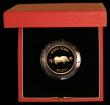 London Coins : A169 : Lot 777 : Hong Kong $1000 1983 Year of the Pig KM#51 Gold Proof FDC in the red box of issue with certificate
