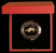 London Coins : A169 : Lot 780 : Hong Kong $1000 1985 Year of the Ox KM#53 Gold Proof FDC in the red case of issue with certificate